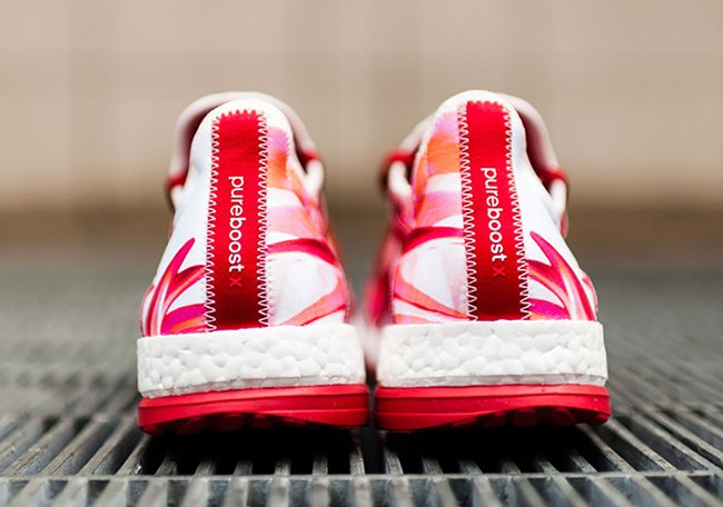 adidas Pure Boost X Power Red Flower Pedals