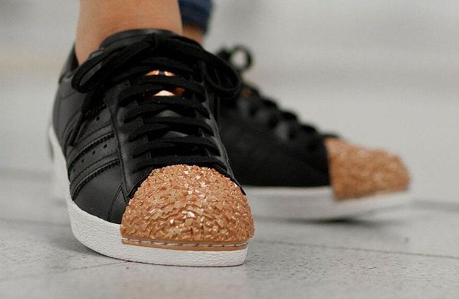 adidas superstar black copper