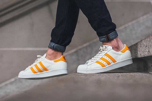 adidas Superstar 80s White Equipment Orange