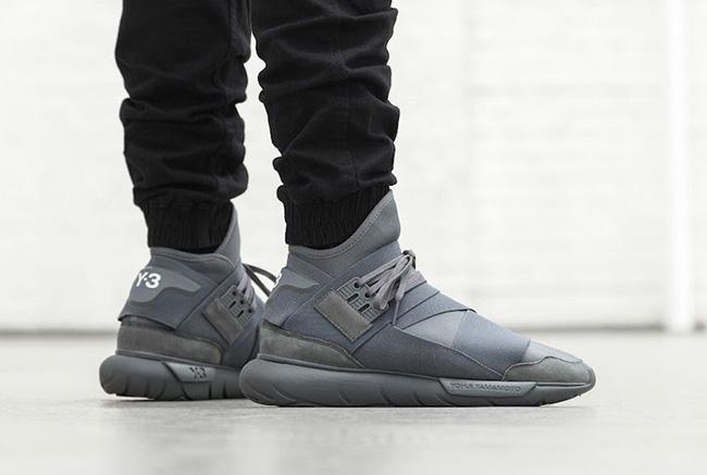 adidas y 3 qasa high vista grey sneakerfiles. Black Bedroom Furniture Sets. Home Design Ideas