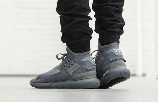 adidas Y-3 Qasa High Vista Grey On Feet