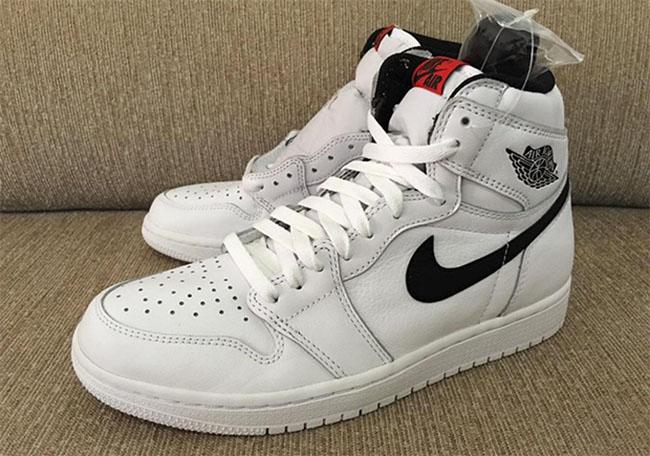 Air Jordan 1 High OG White Black Red 2016