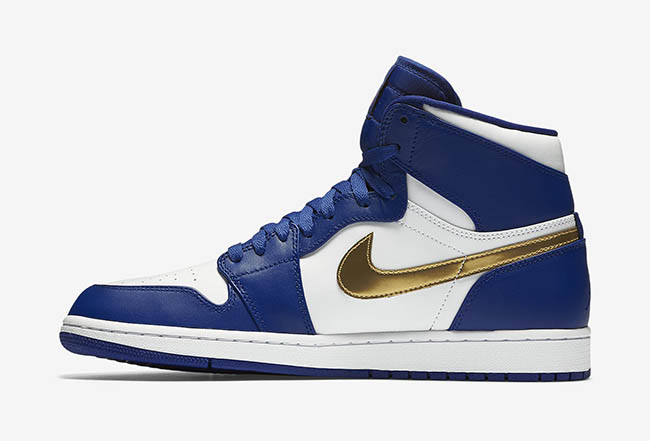 Air Jordan 1 High Olympic Royal Blue Metallic Gold