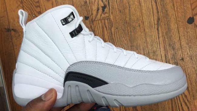Air Jordan 12 Barons White Grey Black 2016