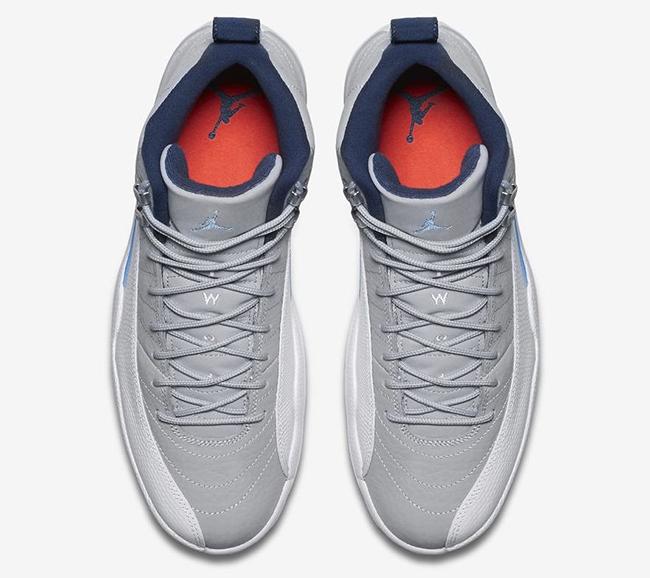 ceaf49ed355b Air Jordan 12 Grey University Blue Release Date