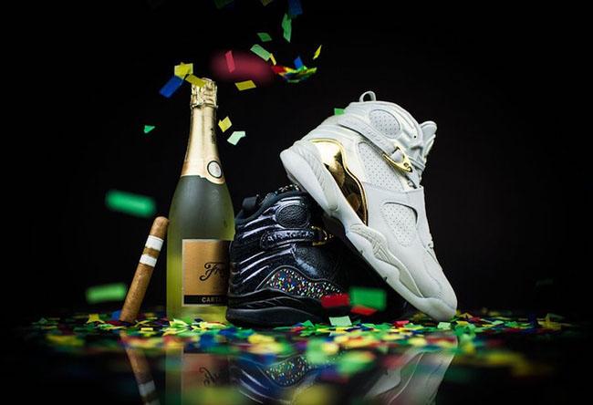 best website ffd30 e8602 Air Jordan 8 Championship Pack Retro Release