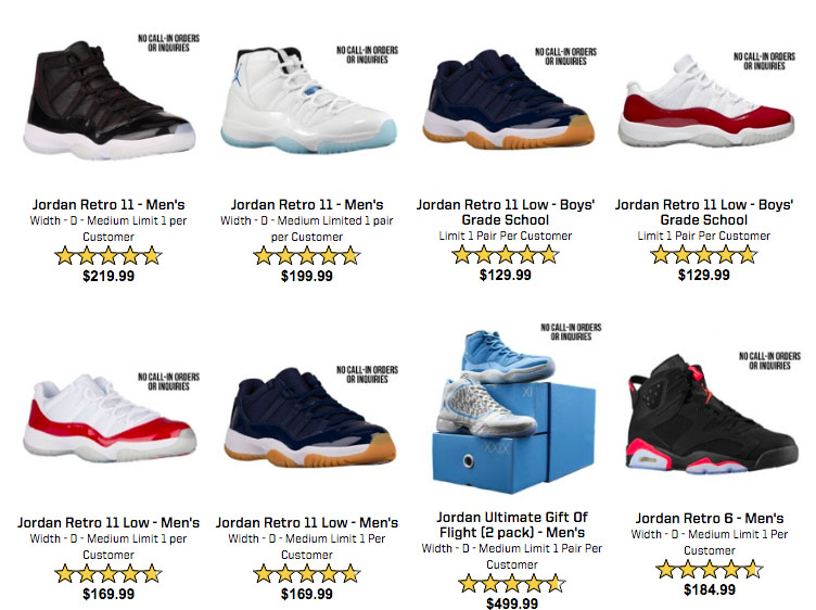 Air Jordan Restock June 2016 Eastbay