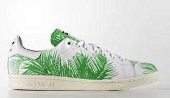 BBC Pharrell adidas Stan Smith Green Palm Trees