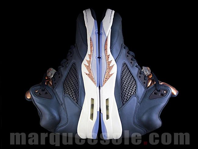 Bronze Air Jordan 5 Tongue