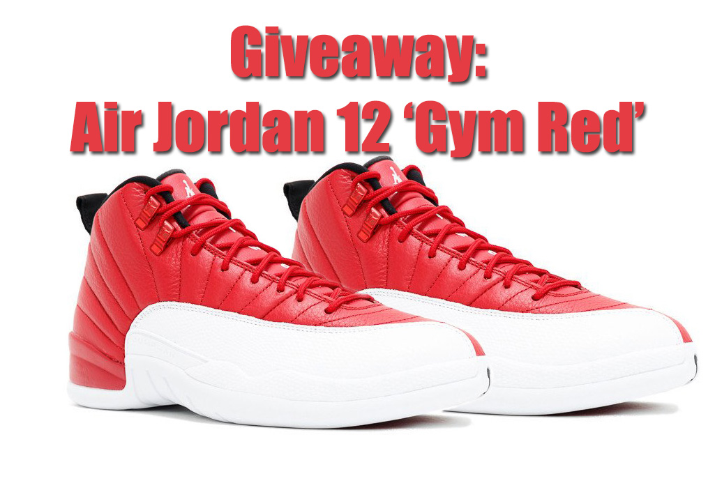 Giveaway Air Jordan 12 Gym Red