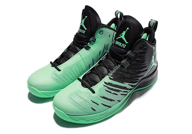 Jordan Super Fly 5 Green Glow