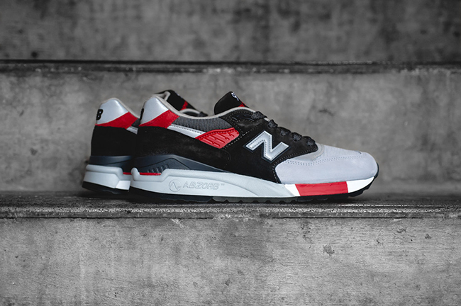 New Balance 998 Black Grey Red