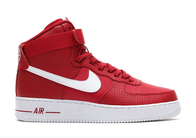 Nike Air Force 1 High Perforated Red