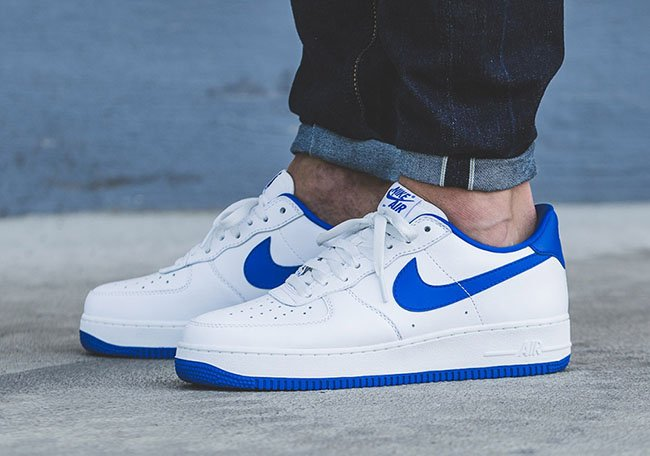 Nike Air Force 1 Kongeblå Og Hvit Hd80CfPeQ