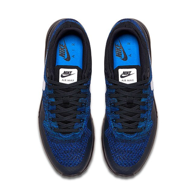 Nike Air Max 1 Ultra Flyknit Black Blue