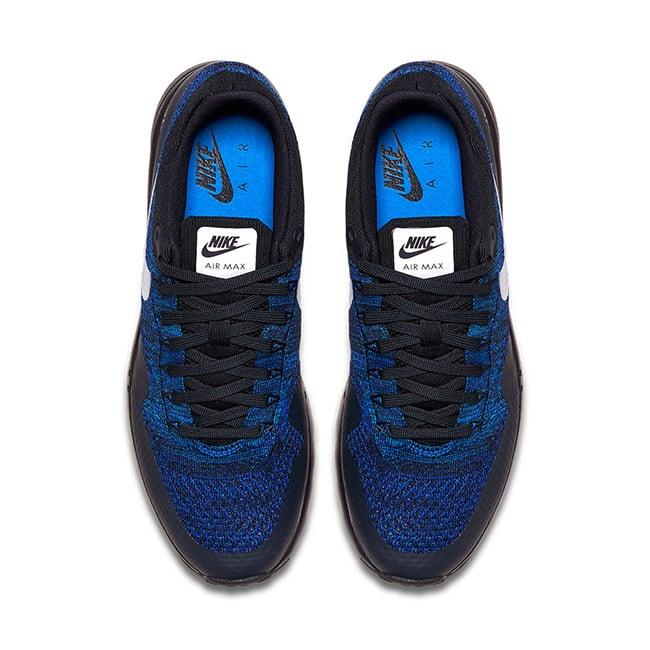 new product 7ddd2 81dde Nike Air Max 1 Ultra Flyknit Black Blue