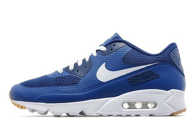 air max 90 blue white