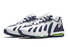 Nike Air Max 96 Retro 2016 White Blue Neon Scream Green