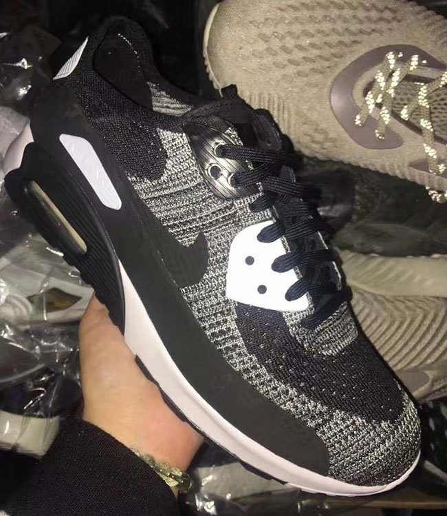 Nike Flyknit Air Max 90 Black Grey