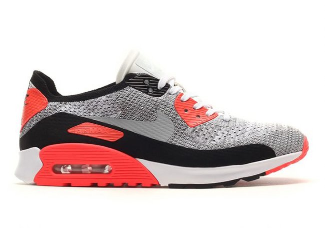 Nike Flyknit Air Max 90 Infrared 881109-100