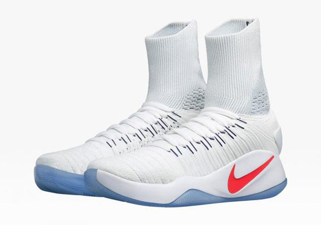 Nike Hyperdunk Flyknit 2016 White Crimson