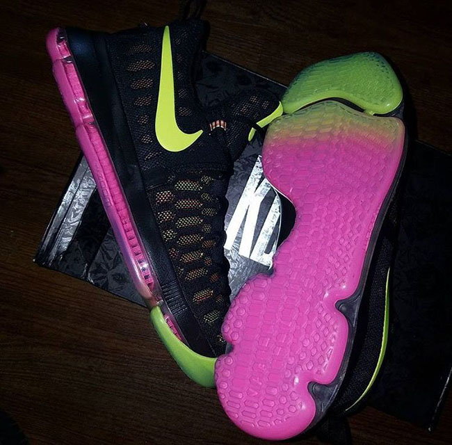 Nike KD 9 Multicolor Pink Yellow
