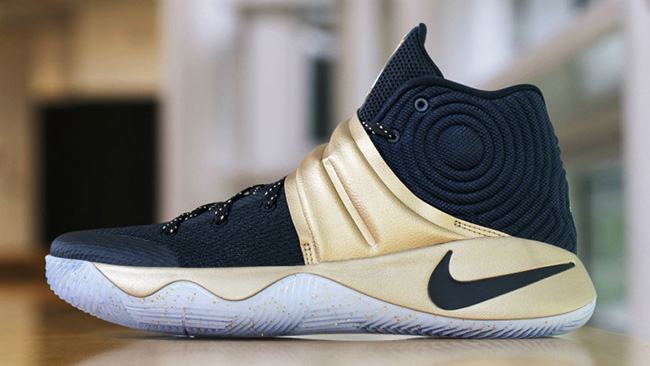 Nike Kyrie 2 Navy Gold Finals PE