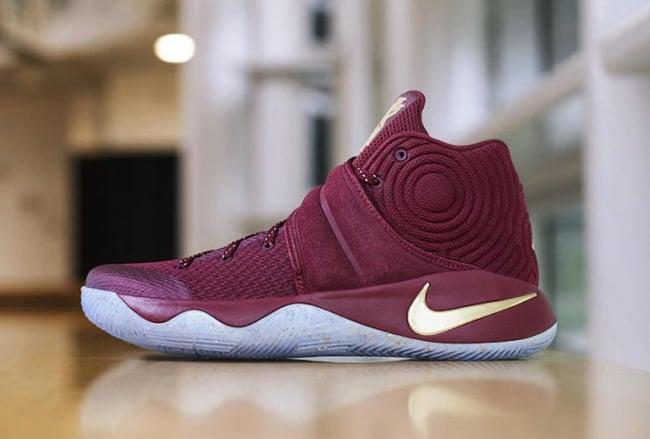 Nike Kyrie 2 Red Velvet Gold Finals PE