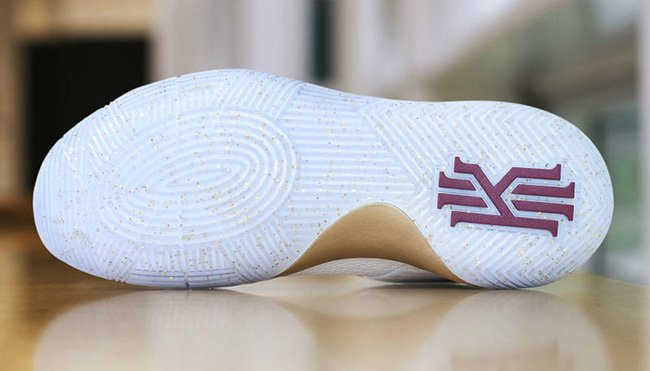 Nike Kyrie 2 White Gold Wine Finals PE