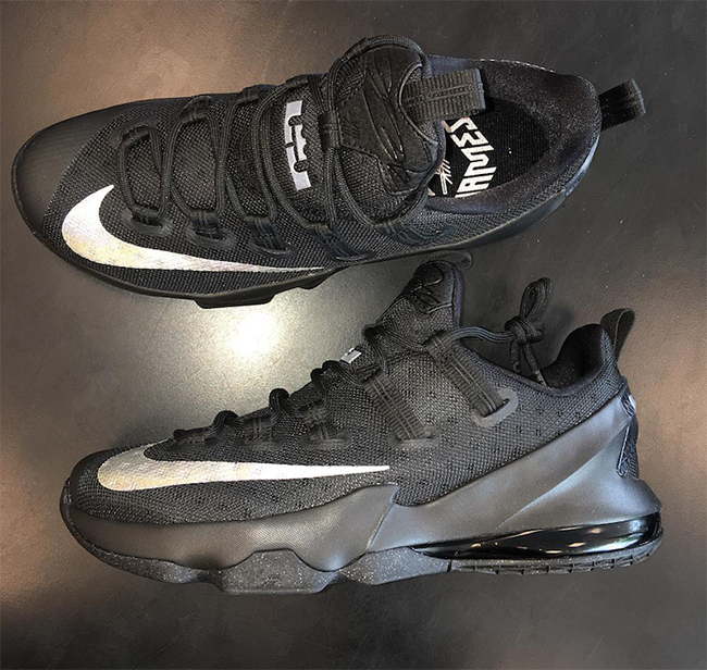 Nike LeBron 13 Low Black Silver