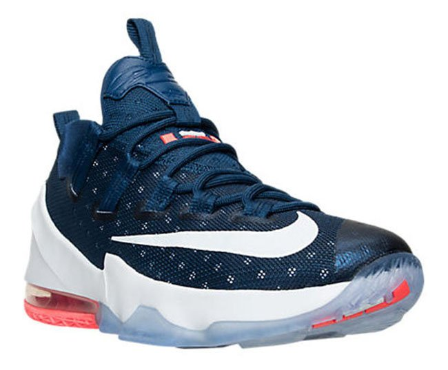 Nike LeBron 13 Low Coastal Blue White Bright Crimson
