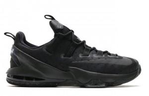 Nike LeBron 13 Low Triple Black Silver