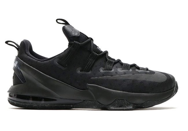 Nike LeBron 13 Low Triple Black Silver