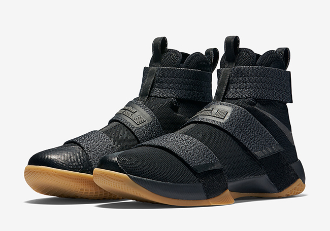 reputable site b48c3 581d7 Nike LeBron Soldier 10 Black Gum Strive for Greatness