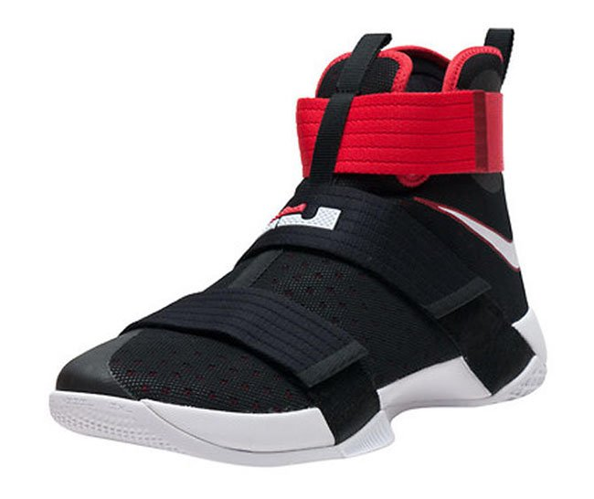 separation shoes 2fa6b bb74c Nike LeBron Soldier 10 Black White Red