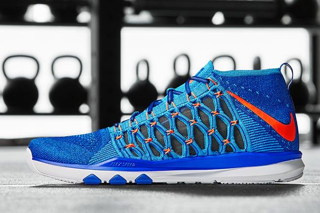 sale retailer 7efb4 3c300 Nike Train Ultrafast Flyknit Racer Blue