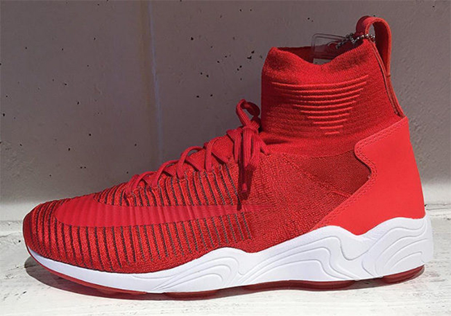 9a77abfff Nike Zoom Mercurial Flyknit Red White
