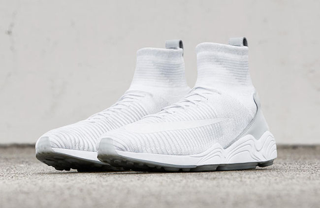 Nike Zoom Mercurial Flyknit Triple White