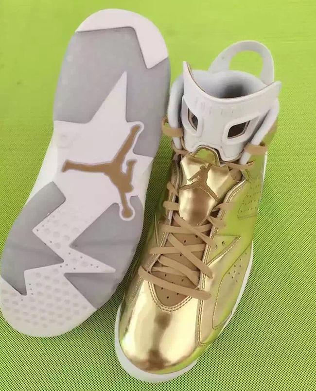 Pinnacle Air Jordan 6 Metallic Gold