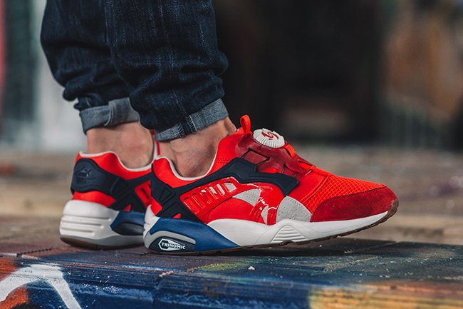 size 40 7c0e8 474ca Puma Disc Blaze Athletic High Risk Red