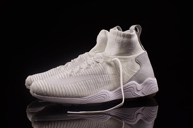 Triple White Nike Zoom Mercurial Flyknit