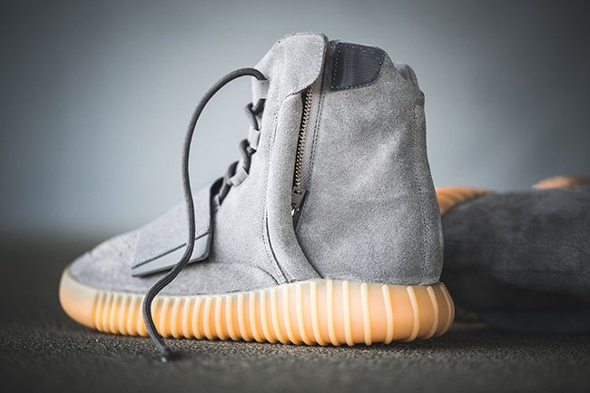 Yeezy 750 Boost Light Grey On Feet