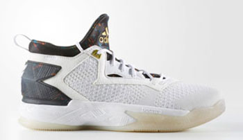 adidas D Lillard 2 White Royal Gold