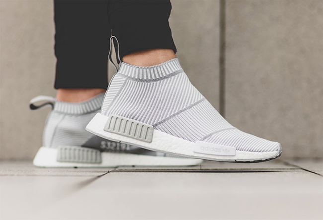 adidas NMD City Sock Whiteout On Feet