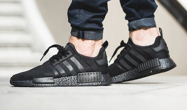 Adidas NMD R1 Core Black | On Feet