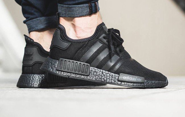 adidas NMD Triple Black On Feet