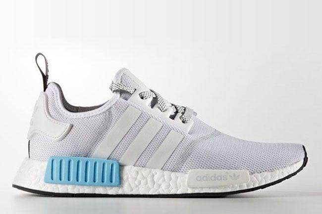 adidas NMD White Blue Mesh