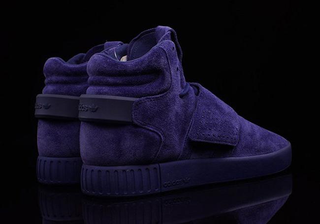 Publicidad empujar punto  adidas Tubular Invader Strap Blue Suede | SneakerFiles