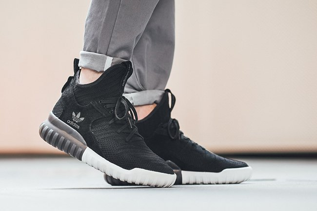 NEW $160 Adidas Men Tubular X Primeknit black carbon vintage