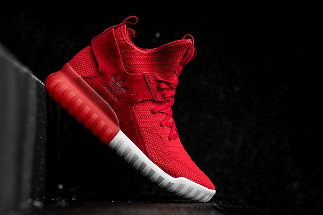 adidas Tubular X Primeknit Scarlet Red